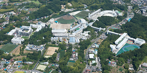 Toin Gakuen's campus stetches over an area of 360,000 square meters